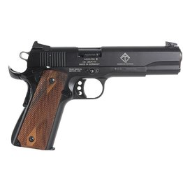 "American Tactical GSG 1911 Pistol 2210M1911CA, 22 LR, 5"", Checkered Wood Grip, Black Finish, 3-Dot Fixed Sights, 10 Rd"