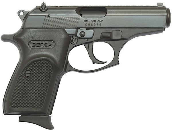 """Bersa Firestorm 380 Pistol FS380M, 380 ACP, 3 1/2"""", Polymer Grip, Black Finish, 7 Rd"""