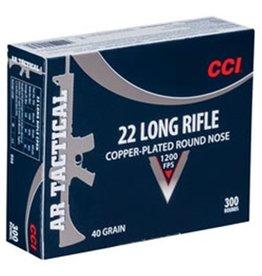 CCI .22LR Rimfire, AR Tactical, 40 Grain, Copper Plated Round Nose, 300rd/box