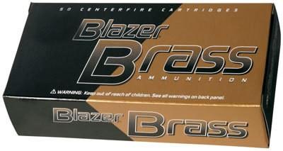 CCI Blazer Brass CF Brass Ammunition 5200, 9 mm, Full Metal Jacket, 115 GR, 1145 fps, 50 Rd/bx