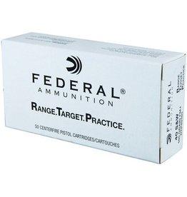 Federal Range Target Practice Handgun Ammunition RTP40180, 40 S&W, Full Metal Jacket, 180 Gr, 1000 fps, 50 Rd/bx