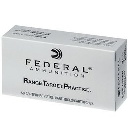 Federal Range Target Practice Handgun Ammunition RTP9115, 9mm, Full Metal Jacket, 115 Gr, 1180 fps, 50 Rd/bx