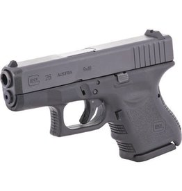 Glock Glock 26 Subcompact Pistol, 9 MM, 3.46 in, Fixed Sights