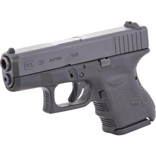 Glock Glock 26 Subcompact Pistol, 9 MM, 3.46 in, Fixed Sights