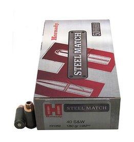 Hornady Steel Match Pistol Ammunition 91362, 40 S&W, HAP, 180 GR, 862 fps, 50 Rd/bx
