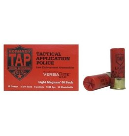"Hornady TAP Shotgun Shells 86275, 12 Gauge, Light Magnum, 2-3/4"", 00 Buck Shot, 10 Rd/bx"