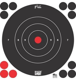 "Pro-Shot, Splatter Shot 8"" White Bull's Eye Target- Peel and Stick- 6 Pack"