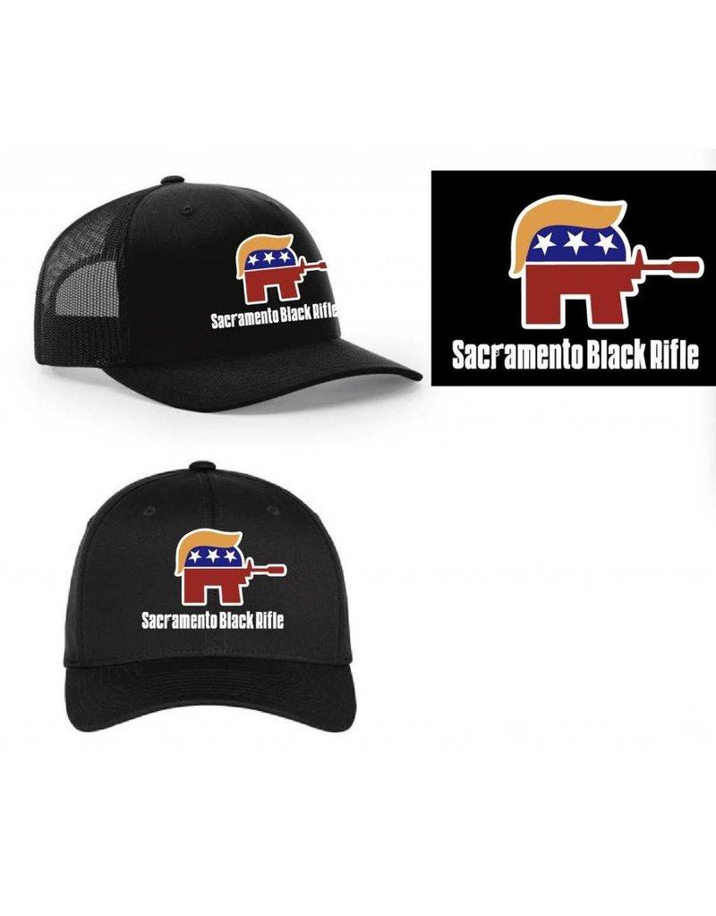 "SBR, ""The Deplorable"" Black Flexfit Hat L/XL"
