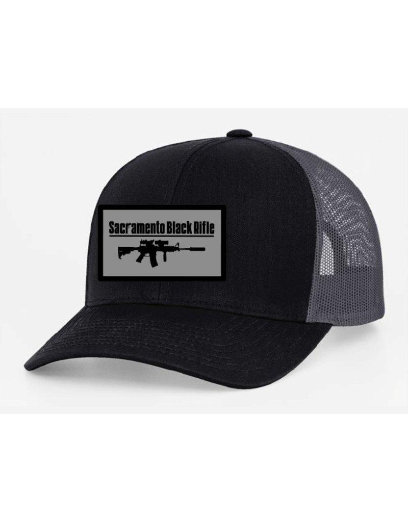 SBR, Black/Gray Hat Snapback, Large Patch