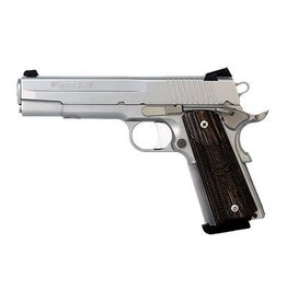 Sig Sauer Sig Sauer 1911 1911-45-SSS, 45 ACP, 5 in, Wood Grip, Stainless Finish, Novak Night Sights, 8 Rd
