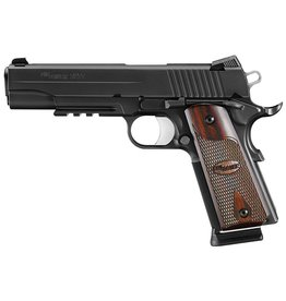 "Sig Sauer Sig Sauer 1911 1911R-45-BSS-CA, 45 ACP, 5"", Custom Wood Grips, Nitron Finish, Low Profile Night Sights, Light Rail 8 Rd"