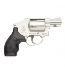 "Smith & Wesson Smith & Wesson 642 Airweight Revolver 163810, 38 Special, 1.87"", Rubber Grip, Stainless Finish, 5 Rd, Fixed Sights"