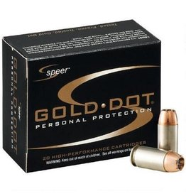Speer Gold Dot Ammunition 23617, 9 mm +P, Gold Dot Hollow Point, 124 GR, 1220 fps, 20 Rd/bx