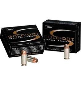 Speer Gold Dot Ammunition 23618, 9 mm, Gold Dot Hollow Point, 124 GR, 1150 fps, 20 Rd/bx