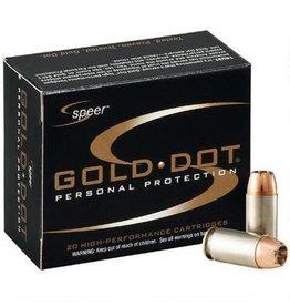 Speer Gold Dot Handgun Ammunition 23970, 40 S&W, Gold Dot Hollow Point (HP), 165 GR, 1150 fps, 20 Rd/bx