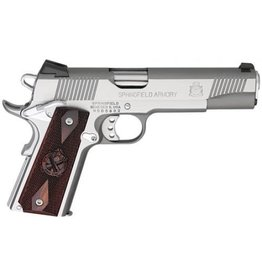 "Springfield Springfield Loaded Full Size Stainless Steel Pistol PX9151L, 45 ACP, 5"", Cocobolo Wood Grips, Stainless Finish, Fixed Low Profile Combat Rear Dovetail Front Sights, 7 Rd"