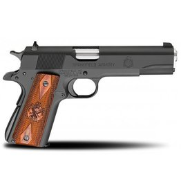 "Springfield Springfield MilSpec 1911 Pistol PB9108LP, 45 ACP, 5"", Cocobolo Wood Grips, Parkerized Finish, Fixed Combat Sights, 7 Rd"