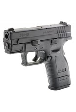Springfield Springfield XD-9 Sub-Compact Essential Package XD9801, 9mm, 3 in, Checkered Polymer Grip, Black Slide/Black Frame, 10 Rd