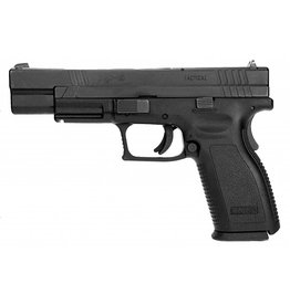 "Springfield Springfield XD-9 Tactical XD9401, 9 MM, 5"", Checkered Polymer Grip, Black Slide/Black Frame, 10 Rd"