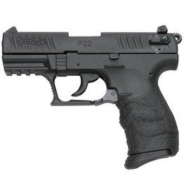 "Walther P22 Semi Auto Pistol, Black  Polymer Grip, Black Finish, 5120333, 22 LR, 3.4"", 10 Rd"