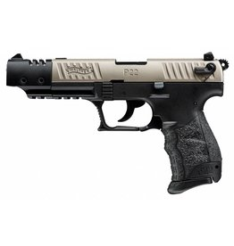 "Walther P22 Semi Auto Pistol ,22 LR, 5"",  Nickel Finish, Black Polymer Grip,10 Rd CA"