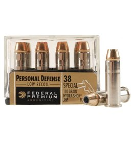 Federal Premium Hydra-Shok PD38HS3H, 38 Special, JHP, 110 GR, 980 fps, 20 Rd/bx