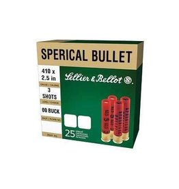 Sellier & Bellot Shotgun Ammuntion V051592U, 410 Gauge, 2 1/2 in, 3 Pellets, #000 Lead Buckshot, 25 Rd/bx