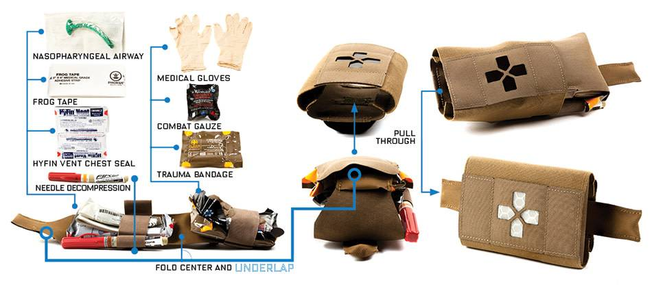 Blue Force Helium Whisper, Coyote Brown Trauma Kit Now!, Filled, Version 003 (Micro), Coyote Brown