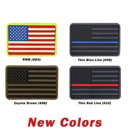 PVC US Flag Patch - Red Line
