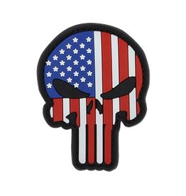 Punisher PVC Patch Red White & Blue