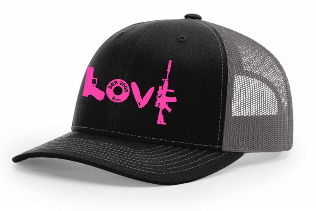 SBR, Black/Grey Hat Snapback, LOVE