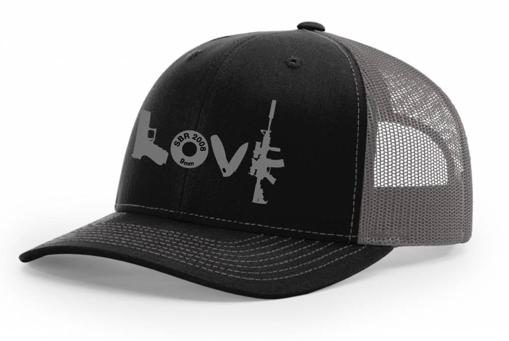 SBR, Black/Grey Hat Snapback, Grey LOVE