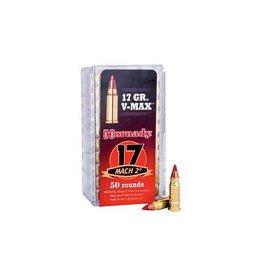 Hornady, Hunting, 17 Hornady Mach 2, 17 Grain, V-Max, 50 Round Box