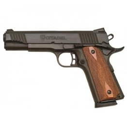 Citadel 1911 Pistol CIT45FSP, 45 ACP, 5 in, Checkered Wood Grip, Blue Finish, 8 Rd