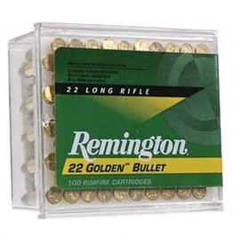 Remington Golden Bullet High Velocity Ammunition 1622, 22 Long Rifle, Plated Round Nose, 40 GR, 1255 fps, 100 Rd/bx