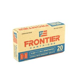 Frontier Cartridge, Lake City, 556 NATO, 75 Grain, Boat Tail Hollow Point Match, 20 Round Box