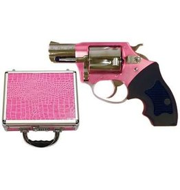 "Charter Arms, Chic Lady, 38 Special, 2"" Barrel, Aluminum Frame,Pink Finish, Rubber Grips, Fixed Sights, 5Rd, Pink Hardcase, Fired Case"