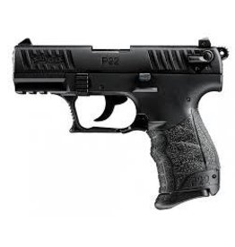 "Walther P22 Semi Auto Pistol CAP22003, 22 LR, 3.4"", Black  Polymer Grip, Black Finish, 10 Rd"