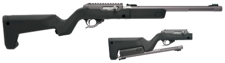 """Tactical Solutions, X-Ring Backpacker Takedown, Semi-automatic, 22LR, 16.5"""" Threaded Barrel, Gun Metal Gray Finish, Magpul Backpacker Stock, 10Rd"""