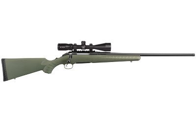 "Ruger, American Predator, Bolt Action Rifle, 6.5 Creedmoor, 22"" Threaded Barrel, 1:8 Right Hand Twist, Matte Black Finish, Moss Green Synthetic Stock, w/Vortex Crossfire II Riflescope, 4X12 BDC Reticle, 4 Round Rotary Magazine"