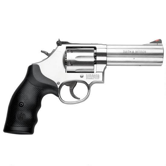 """Smith & Wesson Smith & Wesson 686 Revolver, 164222, 357 Remington Mag, 4"""" , Synthetic Grip, Satin Stainless Finish, 6 Rd,"""