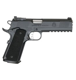 """Springfield Springfield TRP Full Rail Armory Kote Pistol PC9105LCA, 45 ACP, 5"""", G10 Composite Grips, Black Armory Kote Finish, Low Profile Adjustable Rear Dovetail Front Tritium Night Sights, 7 Rd"""