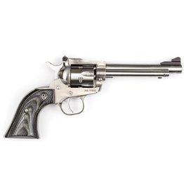 """Ruger, Single-Six Convertible, Single Action Revolver, 22LR/22WMR, 5.5"""" Barrel, Satin Stainless Finish, Black Laminate Grips, 6Rd, Adjustable Sights"""