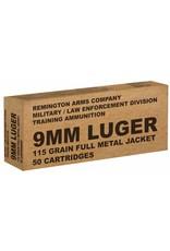 Remington Ammunition B9MM3 Overrun 9mm Luger 115 GR Full Metal Jacket 50 Bx/ 10 Cs