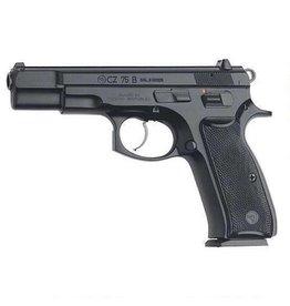 """CZ 75B Semi-Auto Pistol 91102, 9mm, 4.7"""", Black Plastic Grip, Black Finish, 10 Rd"""