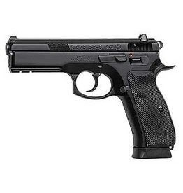 """CZ, 75 SP-01, Semi-Automatic, DA/SA, Full Size, 9MM, 4.6"""" Cold Hammer Forged Barrel, Steel Frame, Black Finish, Rubber Grips, Fixed Sights, 2 Magazines, 10 Rounds"""