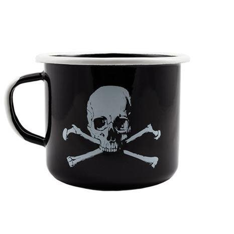 Black Rifle Coffee, Skull And Bones Enamel  Mug