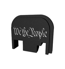 Glock Bastion, Slide Back Plate, We The People, Black and White, Fits All Glock Except 42 & 43