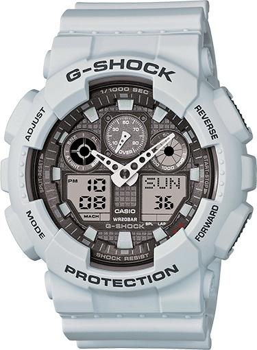 Casio Gshock Watch Military (GA100LG-8ACR)- Ice Grey XL
