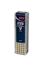 CCI Mini-Mag HP Rimfire Ammunition 0031, 22 Long Rifle, Hollow Point, 36 GR, 1260 fps, 100 Rd/bx